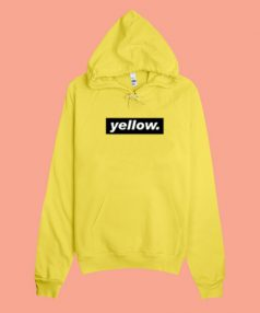 Cheap Custom Hoodie Yellow Quote On Sale