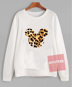 Cheap Custom Mickey Art Leopard Sweatshirt