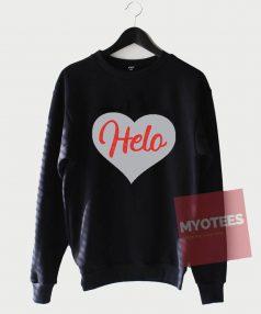 Cheap Custom Helo Love Sweatshirt