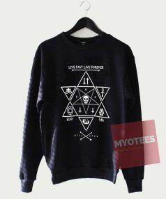 Cheap Custom Live Fast Live Forever Sweatshirt