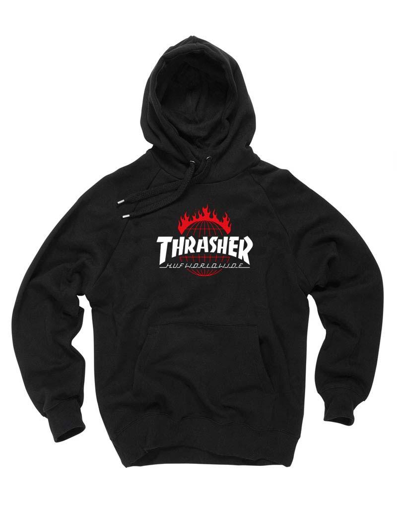 67828b0c92d2 Cheap Custom Thrasher Huf Worldwide Hoodie On Sale
