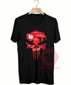 Affordable Custom Red Night Skull T-Shirt
