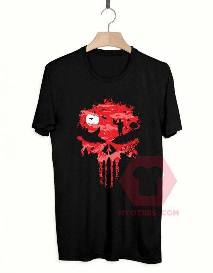 Affordable Custom Red Night Skull T-Shirt