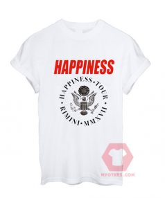 Affordable Custom Happiness Tour Rimini T-Shirt