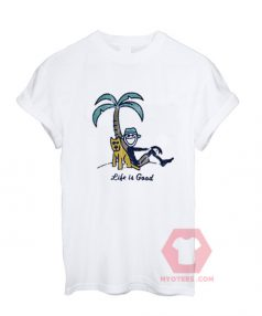 Affordable Custom Palm Tree Life is Good T-Shirt