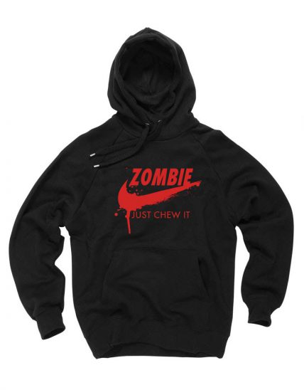 Affordable Custom Zombie Just Chew It Hoodie On Sale