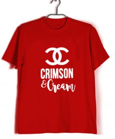 Affordable Custom Crimson And Cream T-Shirt