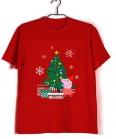 Cheap Custom Peppa Pig Gift Christmas T-Shirts