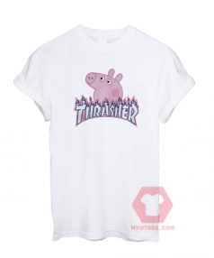 Peppa Pig X Thrasher Flame Parody T-Shirt