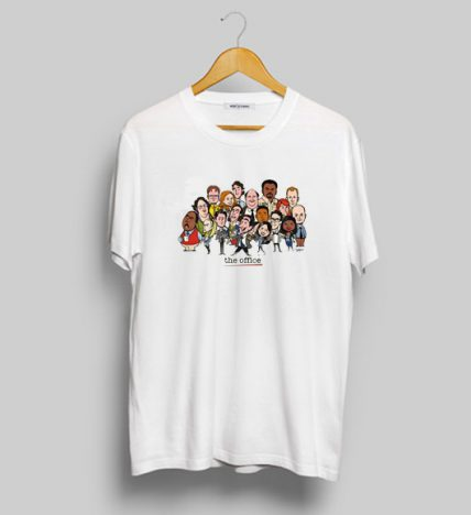 The Office Cast TV Series Caricatures T Shirt