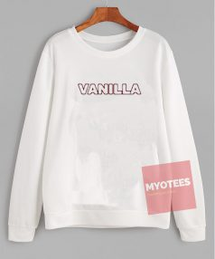 Cheap Custom Vanilla Font Sweatshirt