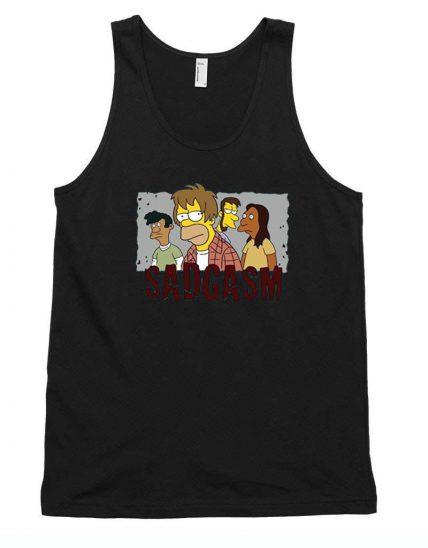 Bart Family Sadgasm Funny Tank Top