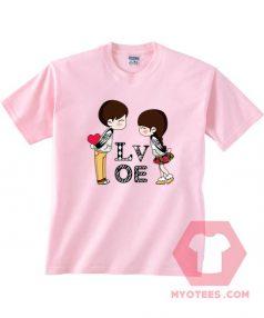 Cheap Custom Tees Boy And Girl Love For Sale