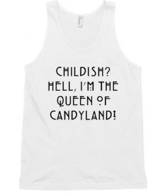 Cheap Custom Queen of Candyland Tank Top