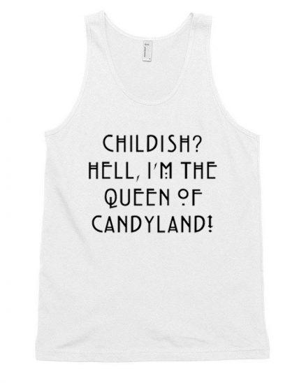 Cheap Custom Queen of Candyland Tank Top