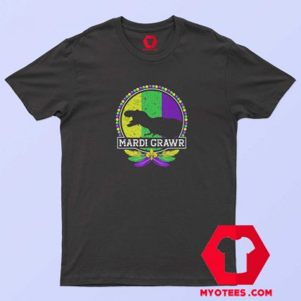 Mardi Grawr T Rex Mardi Gras Tshirt