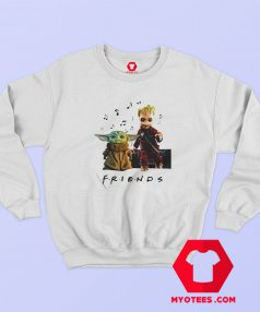 Baby Yoda and Baby Groot Friends TV Sweatshirt