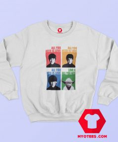 Beatles Yoda Starwars Parody Graphic Sweatshirt