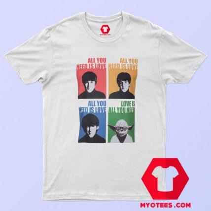 Beatles Yoda Starwars Parody Graphic T Shirt