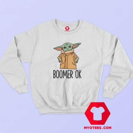 Boomer Ok Baby Yoda Parody Hoodie Sweatshirt