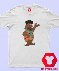 Cool Black Fred Flinstone Parody Graphic T Shirt