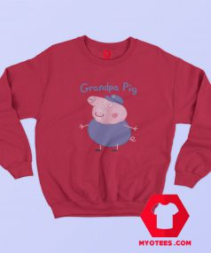 Funny Grandpa Peppa Pig Graphic Sweatshirt