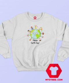 Happy Earth Day Graphic Sweatshirt