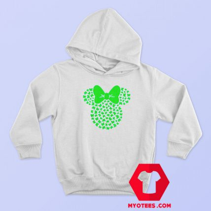 St Patricks Minnie Mouse Icon Shamrocks Hoodie