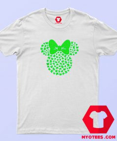 St Patricks Minnie Mouse Icon Shamrocks T Shirt