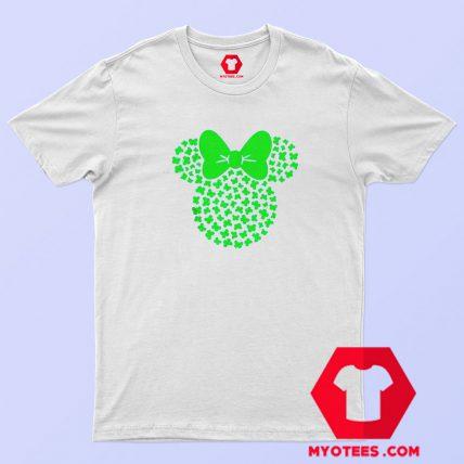 St Patricks Minnie Mouse Icon Shamrocks T Shirt