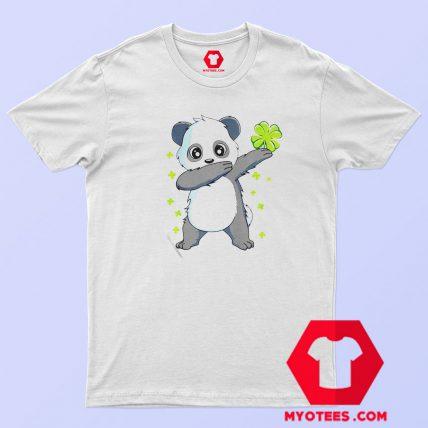 Nice Dabbing Panda St Patricks T Shirt