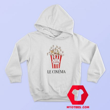 Pop Corn Le Cinema Graphic Hoodie
