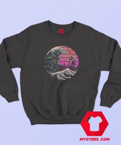 Retro Wave Eva Graphic Sweatshirt Cheap