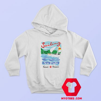 Sailing Na Pali Hawaii Graphic Hoodie