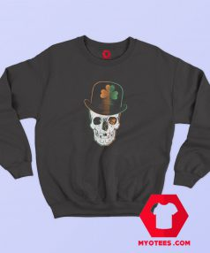 St Paddys Day Irish Leprechaun Skull Sweatshirt