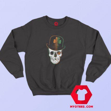 St Paddys Day Irish Leprechaun Skull Sweatshirt