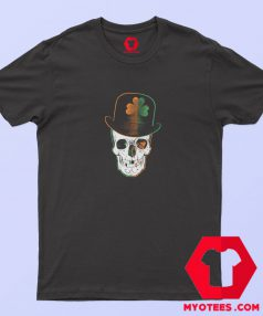 St Paddys Day Irish Leprechaun Skull T Shirt
