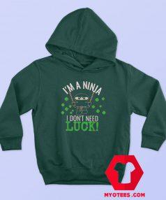 St Patrick's Day Ninja Luck Green Hoodie
