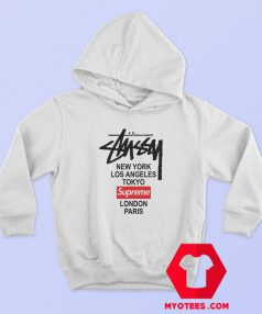Supreme x Stussy Collab Graphic Hoodie