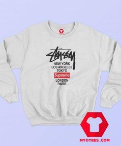 Supreme x Stussy Collab Graphic Sweatshirt