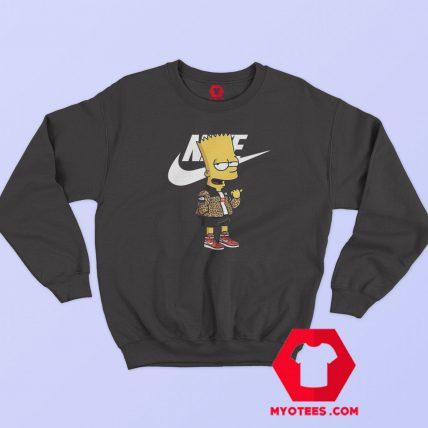 The Simpsons Bape Supreme With Nike Graphic Sweatshirt