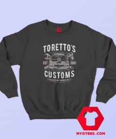 Toretto's Garage Customs Graphic Cheap Sweatshirt