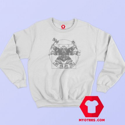 Vitruvian Dwarf Graphic Sweatshirt Cheap