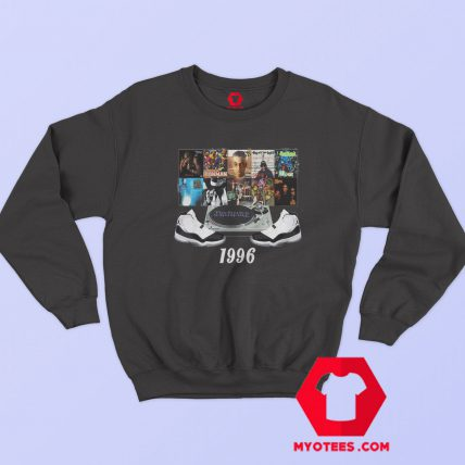 1996 Hip Hop Jordans Graphic Sweatshirt