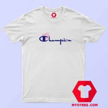 Champion Vintage Logo Collab Peppa Pig T Shirt