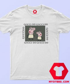 Fancy Peppa Pig GC Logo Parody Gucci T Shirt