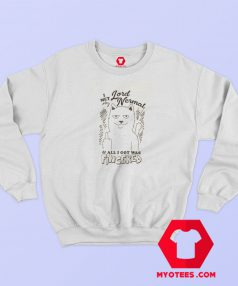 Funny RIPNDIP Fingered Natural Unisex Sweatshirt