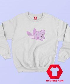 Peppa Pig X Adidas Pink Logo Parody Sweatshirt