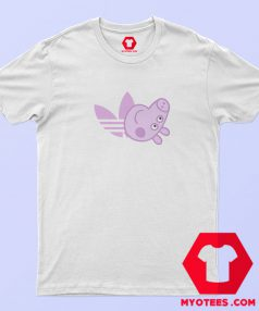 Peppa Pig X Adidas Pink Logo Parody T Shirt