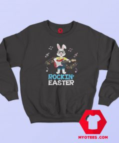 Rocking Easter Bunny Playing Guitar Sweatshirt
